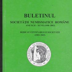 Bnk sc Buletinul Societatii Numismatice Romane 1998-2003, stare perfecta