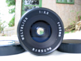 Obiectiv Weltblick 2,8/35 mm filet de 42mm, Wide (grandangular), Manual focus