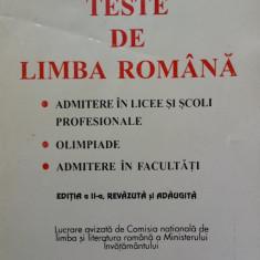 TESTE DE LIMBA ROMANA - Marin Iancu, Rodica Olivotto - Manual scolar