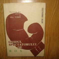GHIDUL SPECTATORULUI DE BOX- VICTOR BANCIULESCU -DESENE DE MATTY SI NELL COBAR ANUL 1965 - Carte sport