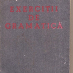 (C5245) EXERCITII DE GRAMATICA DE I. MUTIU SI L.P.BERCEA, EDITURA FACLA, 1985 - Culegere Romana