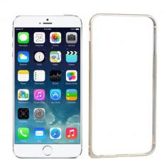Bumper auriu din aluminiu pentru iphone 6 si folie ecran + cablu date - Bumper Telefon