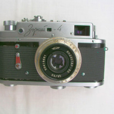 Aparat foto cu film Zorki 4+obiectiv Industar 50+toc, RF (Rangefinder), Mic