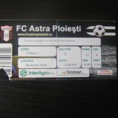 Astra Ploiesti - Universitatea Craiova (21 august 2010) - Program meci
