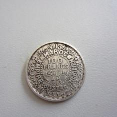 Banuti argint MONEDA ARGINT MAROC 1953 - 100 FRANCS, Africa