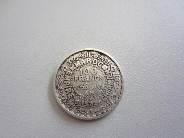Banuti argint MONEDA ARGINT MAROC 1953 - 100 FRANCS