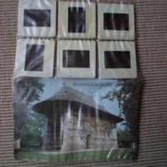 biserica arbore set 6 diapozitive cu brosura diapozitiv manastire hobby colectie
