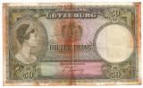 LUXEMBURG 50 FRANCI FRANCS ND(1944) U