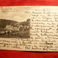 Ilustrata clasica Anina, sfarsit sec.XIX - Carte Postala Banat pana la 1904