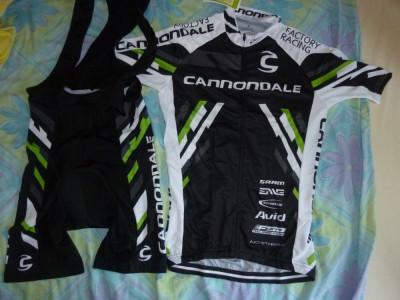 echipament ciclism complet cannondale factory mtb lefty set pantaloni tricou foto