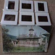 manastirea sucevita set 6 diapozitive diapozitiv cu brosura de colectie hobby