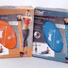 Extensor pentru exercitii Pilates - Banda Latex - Albastru sau Portocaliu - Nou - Extensor Fitness