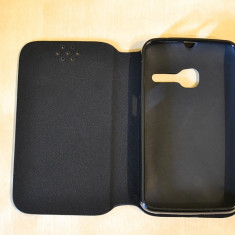 Husa ORANGE Dabi Alcatel One Touch Tribe OT-3040Flip Case Slim Black - Husa Telefon Orange, Negru, Piele Ecologica, Cu clapeta, Toc