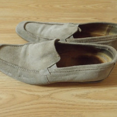 Pantofi barbatesti Pienza, made in italy, piele intoarsa, marime 44 - Mocasini barbati, Culoare: Crem
