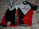 echipament ciclism complet merida rosu set pantaloni tricou jersey bib NOU
