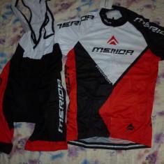 Echipament ciclism complet merida rosu set pantaloni tricou jersey bib NOU, Tricouri