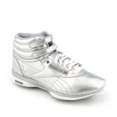 Adidas gheata Reebok - Femei - 100% Original - Gheata dama Reebok, Culoare: Argintiu, Marime: 37, Piele sintetica