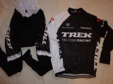 Echipament ciclism TREK negru complet iarna toamna set NOU bluza pantaloni