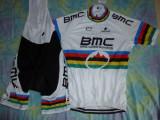 echipament ciclism complet BMC uci mtb world champion set pantaloni tricou