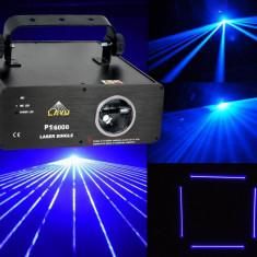 CEL MAI PUTERNIC LASER DISCO DE CULOARE ALBASTRU CU RAZA CEA MAI GROASA LAYU P1600B, PUTERE 700 mw. - Laser lumini club