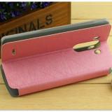 Husa LG G3 piele eco premium roz model subtire, Piele Ecologica