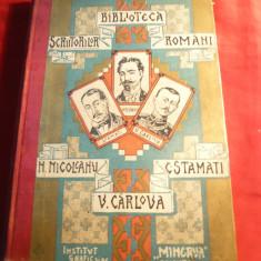N.Nicoleanu -V.Carlova - C.Stamati - 3 autori -Poezii si Proza - Ed. 1906 Minerva - Carte poezie