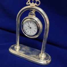 Ceas de birou G. Mignosi - de argint - Ceas de masa