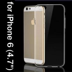"Husa silicon transparenta subtire Iphone 6 4,7"" + folie protectie ecran"