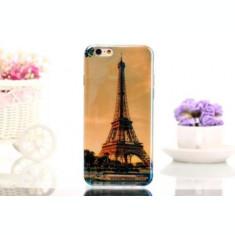 "Husa silicon TPU Turnul Eiffel Iphone 6 Plus 5.5"" + folie protectie ecran + expediere gratuita Posta"