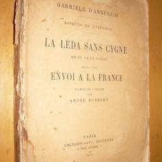 GABRIELE D'ANNUNZIO - ASPECTS DE L'INCONNU : LA LEDA SANS CYGNE - 1922 - CARTE IN LIMBA FRANCEZA - Carte in franceza