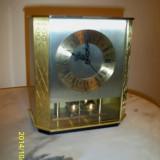 Ceas HETTICH mecanism electro mecanic alama Germania anii 70 - Ceas de masa