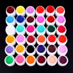 Set 36 geluri colorate unghii uv color profesionale - Gel unghii