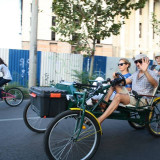 Cvadricicleta / Velomobil / Bicicleta cu 4 roti - Bicicleta de oras, 22 inch, 26 inch, Numar viteze: 7, Otel, Verde
