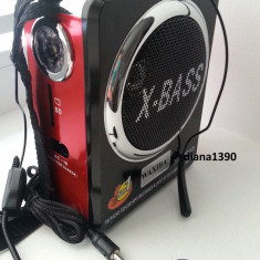 Radio Boxa Portabila Waxiba MP3 player redare stick USB si card SD + Lanterna - Aparat radio