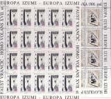 CROATIA 1994 EUROPA CEPT  FOARTE RARE IN COLI COTA MICHEL 120 EURO