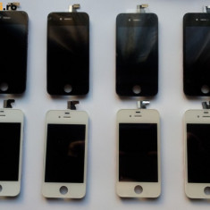 Pachet LCD + Capac Spate Alb si Negru iPhone 4 Noi + baterie de 1420 mah