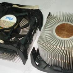 Cooler original Intel socket 478 impecabil, pastila de cupru, foarte eficient - Cooler PC Intel, Pentru procesoare
