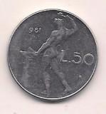 No(2) moneda-ITALIA-50 lire 1981