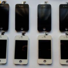 Pachet LCD ECRAN TOUCHSCREEN + Capac Alb si Negru iPhone 4S Noi + baterie