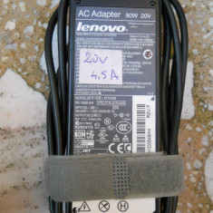 9.Incarcator Laptop Lenovo Pin Central 20V 4.5A 90W 42T4428 42T4432 + Cablu Alim