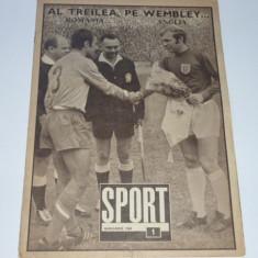 Revista SPORT - ianuarie1969 (Romania-Anglia; Rapid Bucuresti)