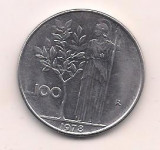 No(2) moneda-ITALIA-100 lire 1978