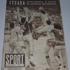 Revista SPORT - februarie 1977 (Cu Valentin Stanescu despre operatiunea PETROLUL Ploiesti))
