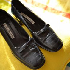 Pantofi dama MARAOLO mar. 36 1/2 din piele naturala (Made in Italy) / Pantofi lux dama / Pantofi Italia piele naturala calitate exceptionala - Pantof dama, Culoare: Negru, Marime: 36.5