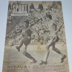 Revista SPORT - iunie 1989 (STEAUA Bucuresti-campioana nationala la fotbal)