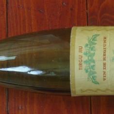 Sticla din perioada comunista - eticheta originala - sticla de vin Tîrgu Jiu ( Targu Jiu ) - vin de regiune !!!