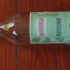 Sticla din perioada comunista - eticheta originala - sticla de vin Podgoria Murfatlar - Riesling Italian - I.A.S. Medgidia !!!