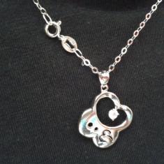 Pandantiv Zodie Capricorn si Lantisor Argint 925 Italy - Pandantiv argint