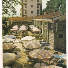 #carte postala(ilustrata)-CALIMANESTI-RESTAURANTUL, Necirculata, Printata