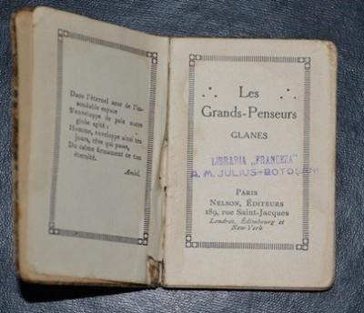 citate franceza LES GRANDS PENSEURS (GLANES)   Mari ganditori (citate) franceza  citate franceza